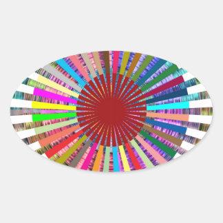 CHAKRA Light Source Meditation Oval Sticker