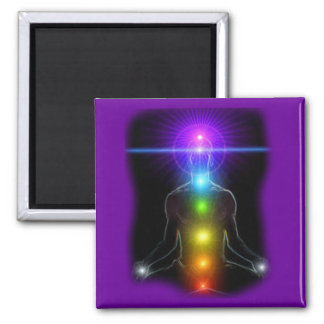 CHAKRA LIGHTS 2 INCH SQUARE MAGNET