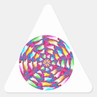 CHAKRA made of Flower Petals:  ENJOY Triangle Stickers