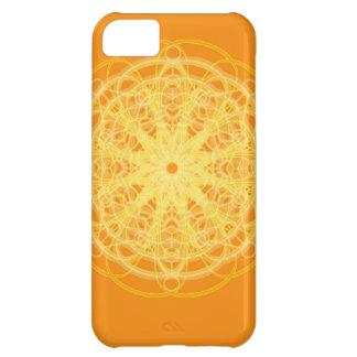 Chakra Mandala Sacred Geometry Bright Orange iPhone 5C Case