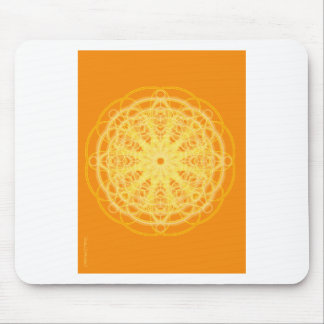Chakra Mandala Sacred Geometry Bright Orange Mouse Pads