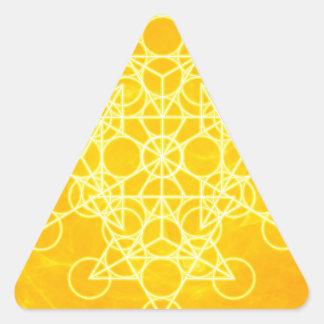 Chakra Mandala Sacred Geometry Bright Yellow Triangle Sticker
