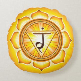 Chakra Manipura Yoga Round Pillow