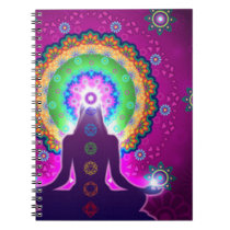 Chakra Meditation Floral Pattern Design Notebook