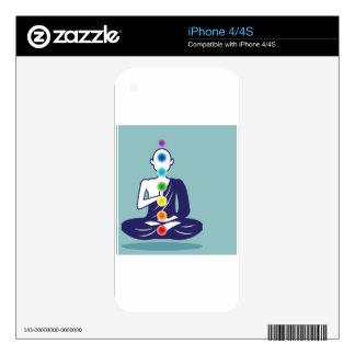 Chakra Meditation vector illustration floating iPhone 4 Decals