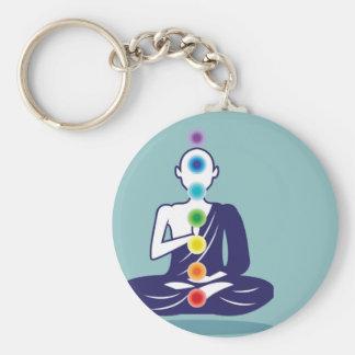 Chakra Meditation vector illustration floating Keychain