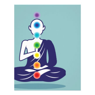 Chakra Meditation vector illustration floating Letterhead