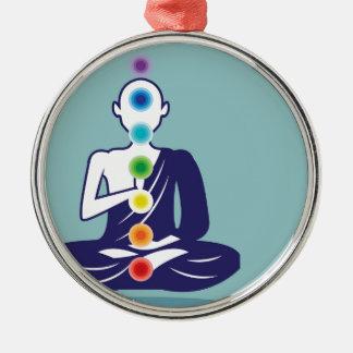 Chakra Meditation vector illustration floating Metal Ornament