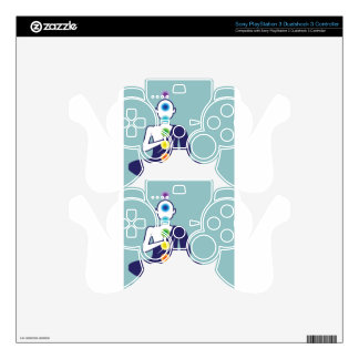Chakra Meditation vector illustration floating Skin For PS3 Controller