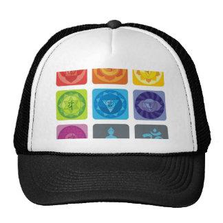 chakra,ohm, aura,zen,chakras,yoga,yogi,healer hat