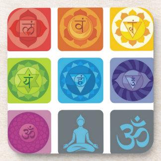chakra, ohmio, aureola, zen, chakras, yoga, yogui, posavaso