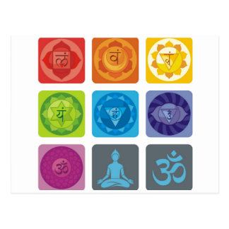chakra, ohmio, aureola, zen, chakras, yoga, yogui, tarjetas postales
