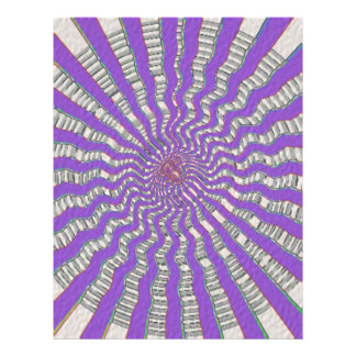 Chakra púrpura - brisa púrpura fresca membrete a diseño