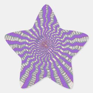 Chakra púrpura - brisa púrpura fresca pegatina en forma de estrella