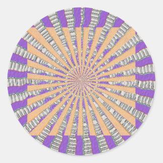 Chakra púrpura - brisa púrpura fresca pegatina redonda