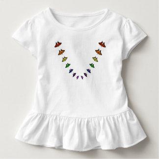 Chakra rainbow butterflies toddler t-shirt