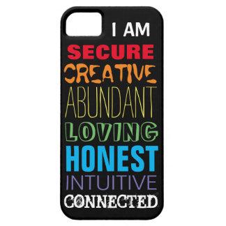 Chakra Rainbow Colors Positive Affirmations iPhone SE/5/5s Case