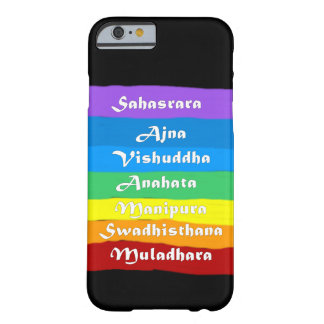 Chakra Rainbow On Black Barely There iPhone 6 Case
