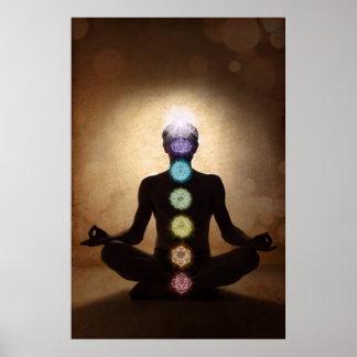 chakra, seven chakras, energy system, symbols,aura poster