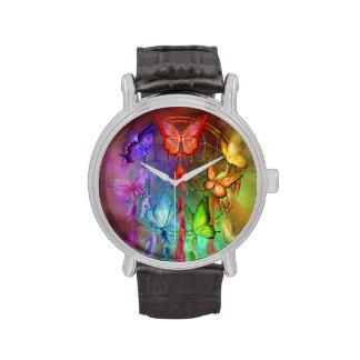 Chakra soña el reloj de cuero del vintage