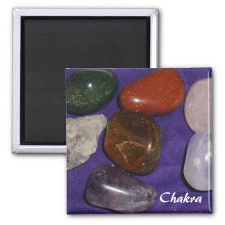 Chakra Stones 2 Inch Square Magnet