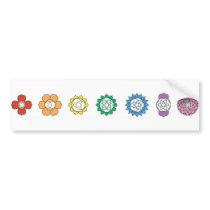 Chakra Strip Bumper Sticker