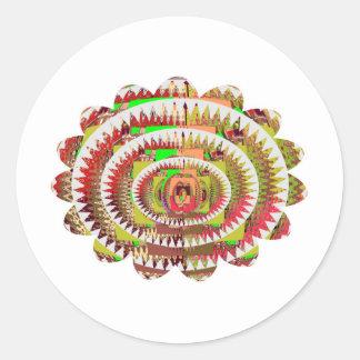 Chakra Style Sunflower Round Sticker
