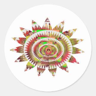 Chakra Style Sunflower Sticker