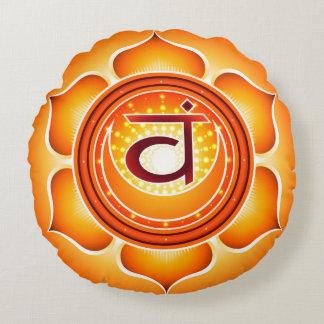Chakra Svadhisthana Yoga Round Pillow