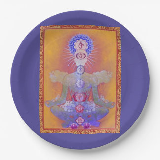 CHAKRA SYSTEM paper plate