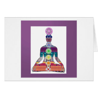 Chakra System Yoga Meditation Well Being NVN656 Stationery Note Card