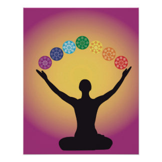 chakra system yoga yogi zen aura meditation chi om poster