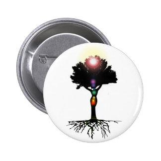 Chakra Tree Pinback Buttons