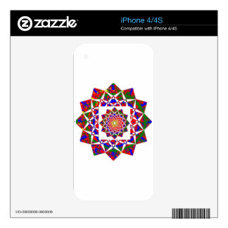CHAKRA VIEW : Artistic Geometric Formation Decal For iPhone 4S