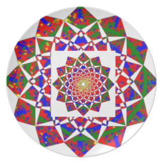CHAKRA VIEW : Artistic Geometric Formation Melamine Plate