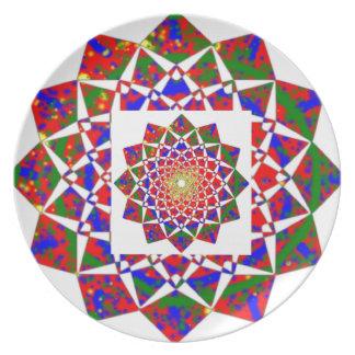 CHAKRA VIEW : Artistic Geometric Formation Melamine Plate