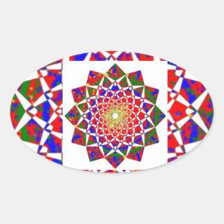 CHAKRA VIEW : Artistic Geometric Formation Oval Sticker