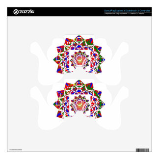 CHAKRA VIEW : Artistic Geometric Formation Skin For PS3 Controller