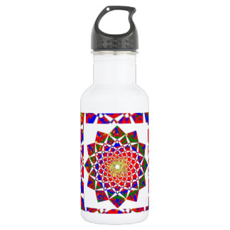 CHAKRA VIEW : Artistic Geometric Formation Stainless Steel Water Bottle
