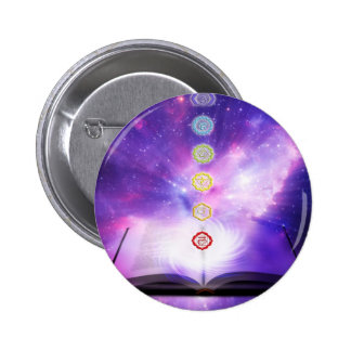 chakra violet universe abstract human cosmos pinback buttons
