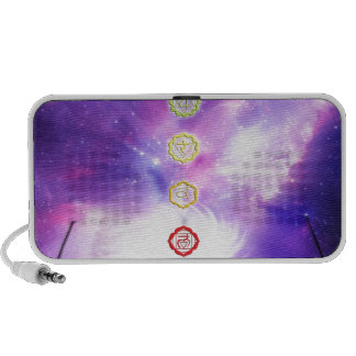 chakra violet universe abstract human cosmos notebook speakers