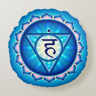 Chakra Vishuddha Yoga Round Pillow