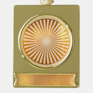 CHAKRA WHEEL gold balance Banner Ornament Silver