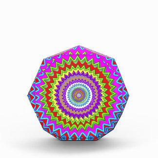 CHAKRA Wheel Illuminated Bright Colors Energy Heal Acrylic Award