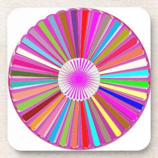 CHAKRA Wheel Round Colorful Healing Goodluck Decor Coaster