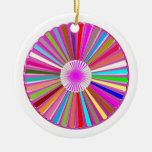 CHAKRA Wheel Round Colorful Healing Goodluck Decor Double-Sided Ceramic Round Christmas Ornament