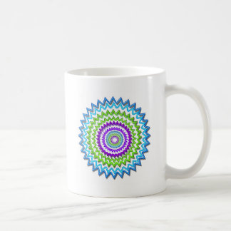 CHAKRA WHEEL Round Neon Sparkle Healing Decoration Coffee Mug