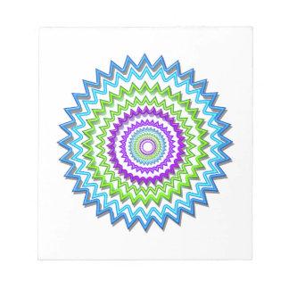 CHAKRA WHEEL Round Neon Sparkle Healing Decoration Note Pads