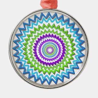 CHAKRA WHEEL Round Neon Sparkle Healing Decoration Christmas Tree Ornament