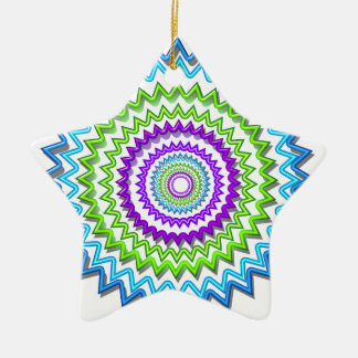 CHAKRA WHEEL Round Neon Sparkle Healing Decoration Ornament